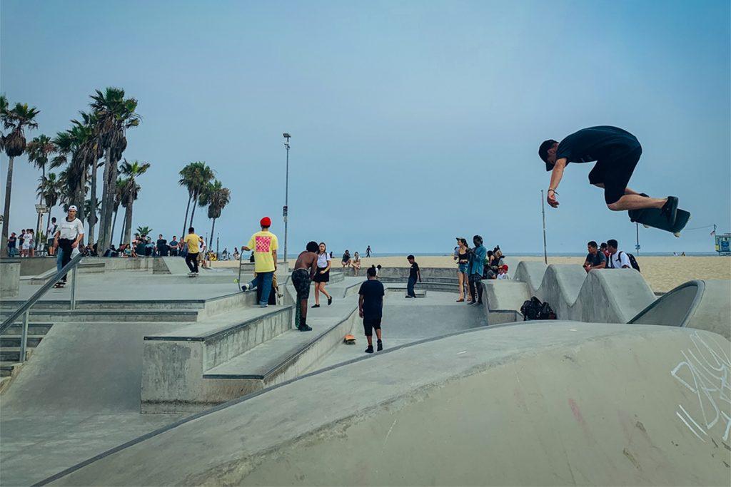 skaters Venice Beach basiscursus fotografie