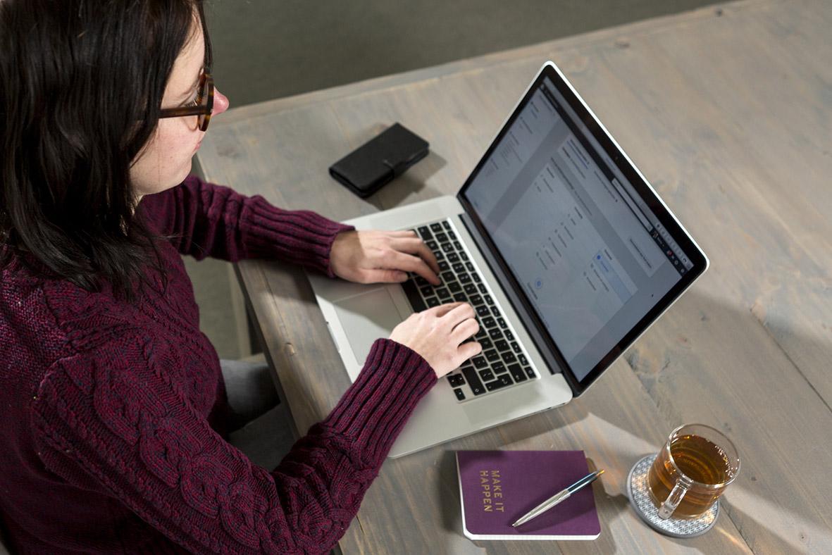 Marlou Minten laptop Fotografiecursus-Helmond